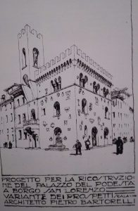 Bertorelli's project od the palace of the podesta